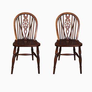 Windsor Holzstühle, 19. Jh. 2er Set