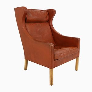 Vintage 2204 Wingback Lounge Chair by Børge Mogensen for Fredericia Stolefabrik