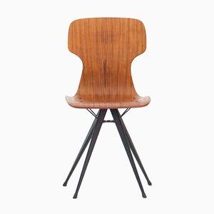Italienischer Stuhl aus Teak & Eisen, 1950er