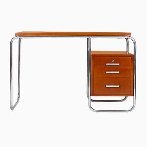 Schreibtisch mit Rohrrahmen, 1930er