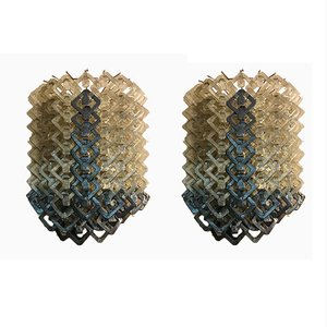Vintage Murano Wall Lamps, Set of 2