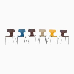 T 3103 Chairs by Arne Jacobsen for Fritz Hansen, Set of 6