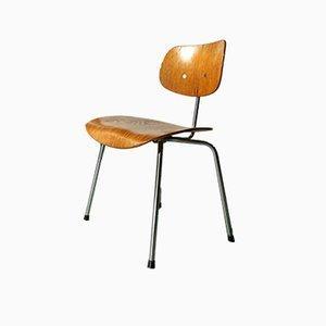 SE 68 Walnuss Furnier Stuhl von Egon Eiermann für Wilde & Spieth, 1960er