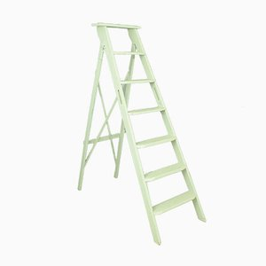 Vintage White Folding Ladder