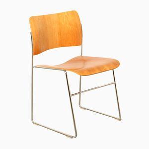 Vintage 40/4 Kirschholz Furnier Stuhl von David Rowland für Howe