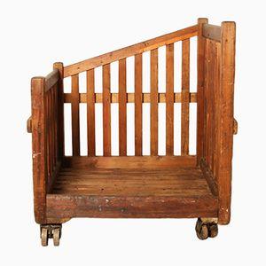 Industrial Wooden Cart, 1920s