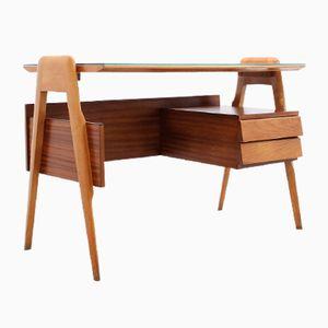 Mid-Century Palisander Schreibtisch von Vittorio Dassi