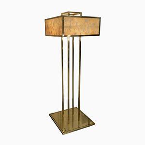 Mid-Century Golden & Alabaster Floor Lamp