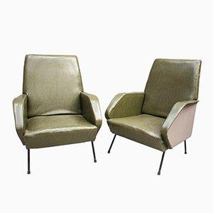 Italienische Sessel, 1960er, 2er Set