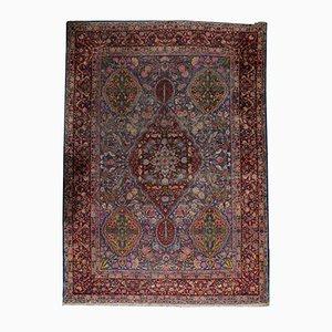 Antique Handmade Persian Yazd Rug, 1910s