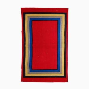 Handmade American Hooked Rug, 1920s