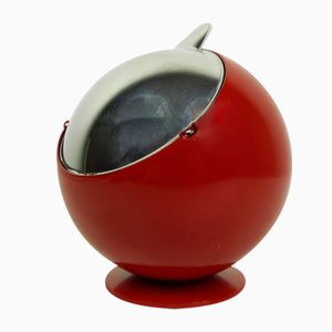 Small Red Smokny Spherical Ashtray from F.W. Quist, 1970s