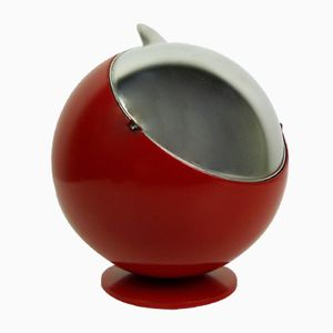 Large Red Smokny Spherical Ashtray from F.W. Quist, 1970s