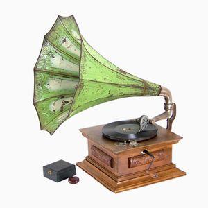 Antikes Grammophon mit Trichter, 1910er