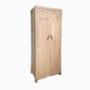Mid-Century Wooden Boarding School Wardrobe