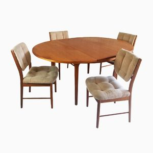 Table & 4 Chairs Dining Set from Mcintosh, 1970s