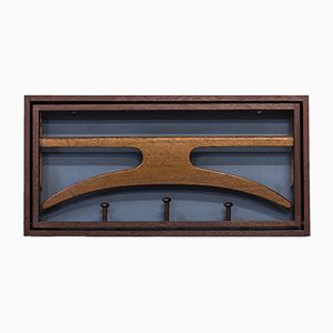 Vintage Wall-Mounted Teak Valet by Hoff & Østergaard for Virum