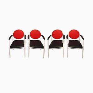 Französische Stühle von Souvignet Plichanse, 1970er, 4er Set