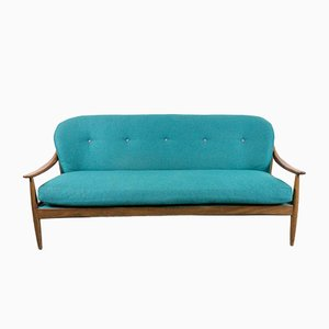 Mid-Century Teak 3-Seater Sofa from Greaves & Thomas