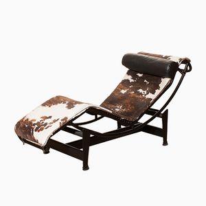 Schwarzer Modell LC4 Sessel von Le Corbusier für Cassina, 1970er