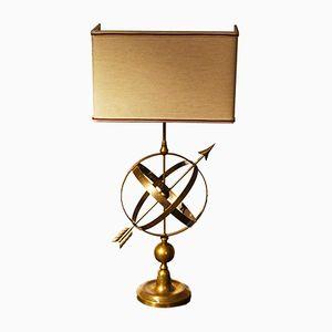 Vintage Sundial-Shaped Brass Lamp
