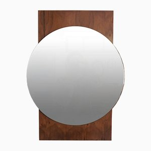 Circular Teak-Framed Mirror, 1960s
