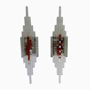 Mid-Century Wall Sconces from Mazzega, Set of 2
