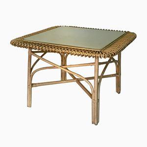 Table Basse en Rotin, 1950s