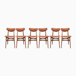 Teak Side Chairs, 1960s, Set of 6