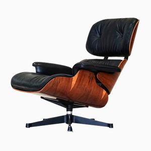 Leather Rosewood Lounge Chair by Charles Eames for Herman Miller, 1960s