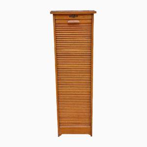 Vintage Industrial Oak Filing Cabinet
