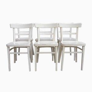 Vintage White Bistro Chairs, Set Of 6