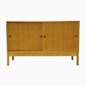 Mid-Century Oak Sound Cabinet by Borge Mogensen for Karl Andersson