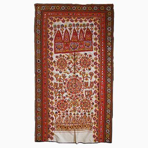 Vintage Handmade Indian Embroidered Tapestry, 1950s