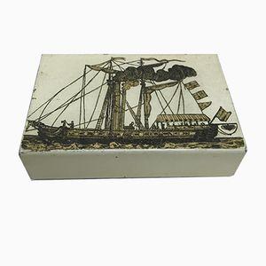 Emaillierte Box von Piero Fornasetti, 1950er