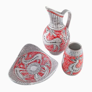 Italienisches Keramik Set von Fratelli Fanciullacci