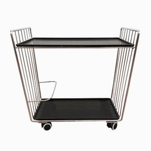 Black and Chromed Metal Trolley, 1970s