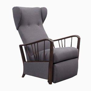 Beech Wing Chair, 1960s