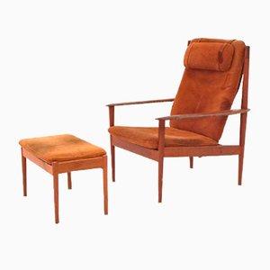 Danish Lounge Chair PJ56 by Grete Jalk for Poul Jeppesens Møbelfabrik, 1950s