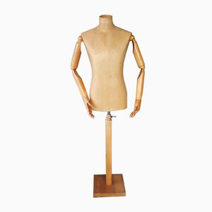 Vintage Brown Articulated Mannequin, 1950s