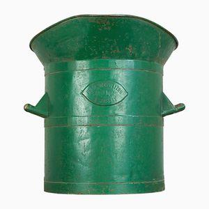 Große Französische Vintage Metall Wassertonne von Simonot