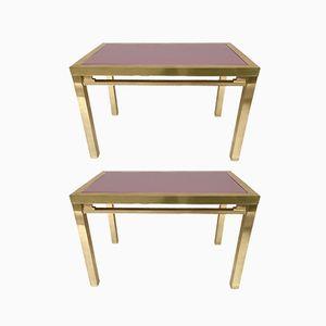 Tables Vernissées par Maison Jansen, France, 1970s, Set de 2
