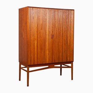 Teak Archive Tambour Cabinet by Carl-Axel Acking, 1950s