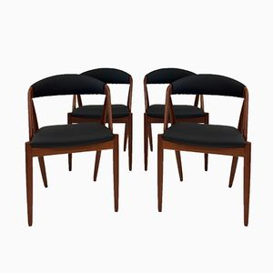 Model 31 Teak Chairs by Kai Kristiansen for Schou Andersen, 1960s, Set of 4