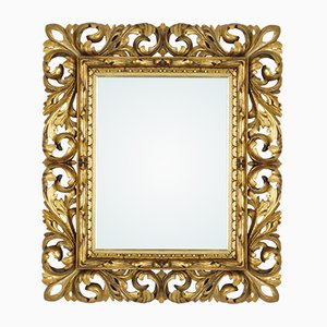 18th Century Baroque Mirror with Carved Wooden Frame