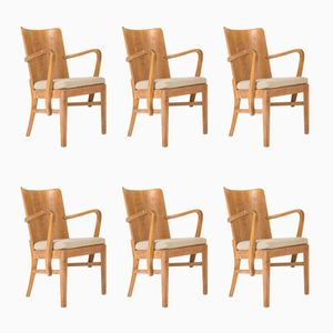 Schwedische Esszimmerstühle, 1930er, 6er Set