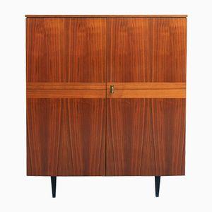 Walnut Veneer Cabinet, 1950s