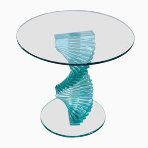 Spiralförmiger Vintage Glas Beistelltisch von Ravello