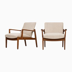 FD125 Danish Easy Chairs by Tove & Edvard Kindt-Larsen for France & Son, 1950s, Set of 2