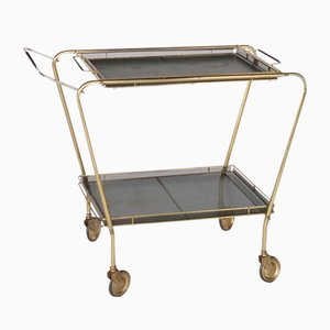 Brass and Metal Serving Trolley, 1950s